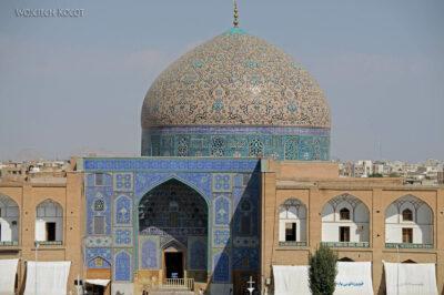 Irnr145-Isfahan-widok zPałacu naMeczet Sułtana Lotfollaha