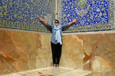 Irnr152-Isfahan-Kwa przy meczecie Sułtana Lotfollaha