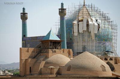 Irnt100-Isfahan-widok zPałacu naMeczet Szacha
