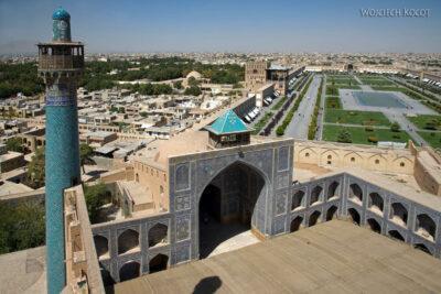 Irnt181-Isfahan-widok ze szczytu minaretu