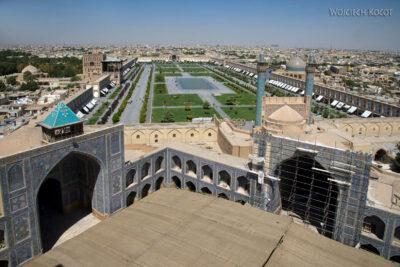 Irnt182-Isfahan-widok ze szczytu minaretu