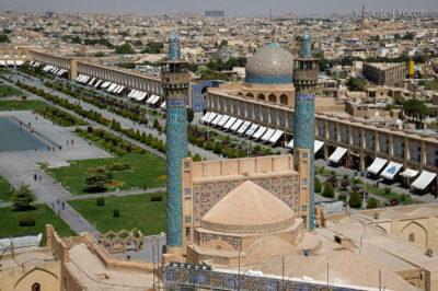Irnt186-Isfahan-widok ze szczytu minaretu