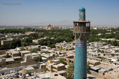 Irnt188-Isfahan-widok ze szczytu minaretu