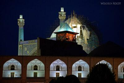 Irnt249-Isfahan-Meczet Szacha nocą