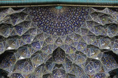 Irnt269-Isfahan-Mecz Sułtana Lotfollaha nocą