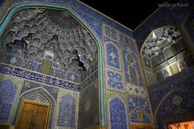 Irnt272-Isfahan-Mecz Sułtana Lotfollaha nocą