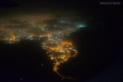 Do001-Doha zsamolotu nocą