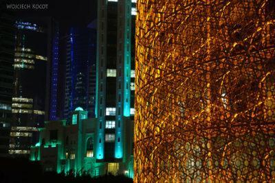 Do274-Doha-Dzielnica wysokosciowców nocą