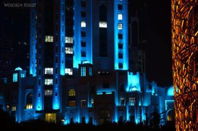 Do275-Doha-Dzielnica wysokosciowców nocą