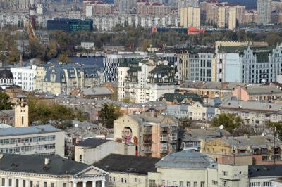 Kijów221-Widoki zCerkwii św.Andrzeja