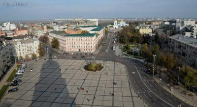 Kijów270-Widok zwieży Soboru MB