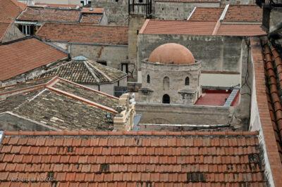 Syi252-Palermo-Kościół Św.Katarzyny-widok zdachu