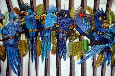 r227-Ptaki haftowane