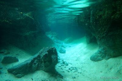 x110-W Gran Cenote - podwodą