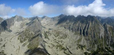 K46-Po prawej Grań Hrubego, centr Furkotska Dolina iNižné Wahlenbergovo Pleso