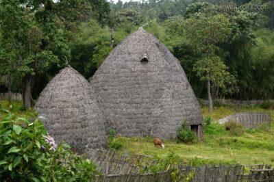 Et21039-W wiosce Dorze-domy