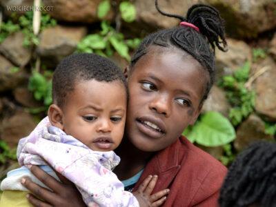 Et21155-W wiosce Dorze-dzieci