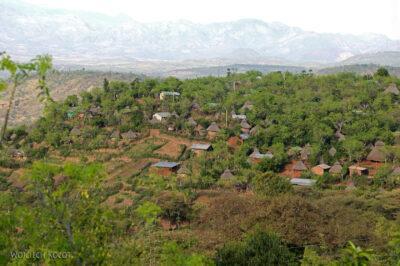 Et24200-W wiosce Gamole plemienia Konso