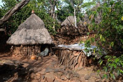 Et24264-W wiosce Gamole plemienia Konso-domy