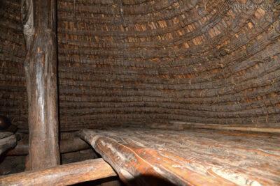 Et24275-W wiosce Gamole plemienia Konso-domy