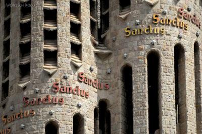 Basz009-La Sagrada Familia-fragm ściany zachodniej
