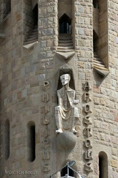 Basz010-La Sagrada Familia-fragm ściany zachodniej