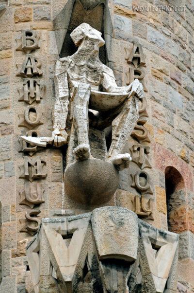 Basz013-La Sagrada Familia-fragm ściany zachodniej