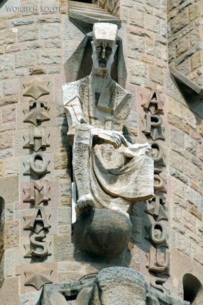 Basz014-La Sagrada Familia-fragm ściany zachodniej