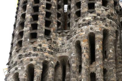 Basz024-La Sagrada Familia-fragm wieży wschodniej