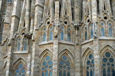 Basz029-La Sagrada Familia-fragm ściany północnej