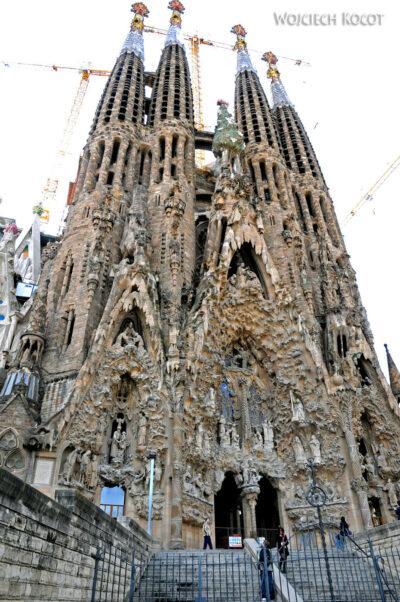 Basz034-La Sagrada Familia-fasada Bożego Narodzenia-wschodnia
