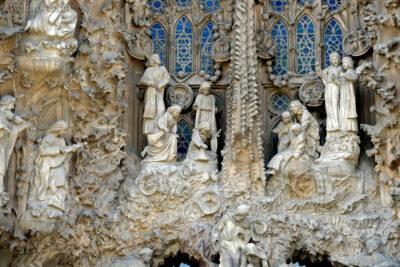 Basz038-La Sagrada Familia-fasada Bożego Narodzenia-wschodnia