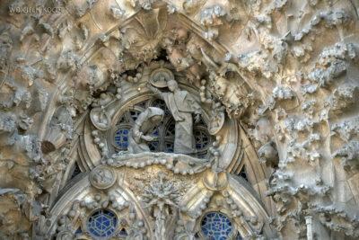 Basz041-La Sagrada Familia-fasada Bożego Narodzenia-wschodnia