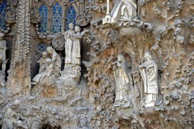 Basz045-La Sagrada Familia-fasada Bożego Narodzenia-wschodnia