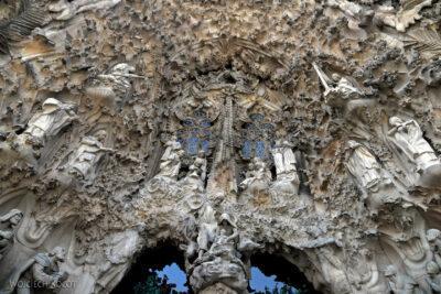 Basz049-La Sagrada Familia-fasada Bożego Narodzenia-wschodnia