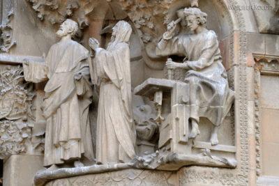 Basz071-La Sagrada Familia-fasada Bożego Narodzenia-wschodnia