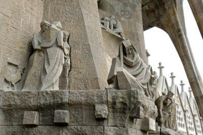 Basz084-La Sagrada Familia-fasada Męki Pańskiej-zachodnia