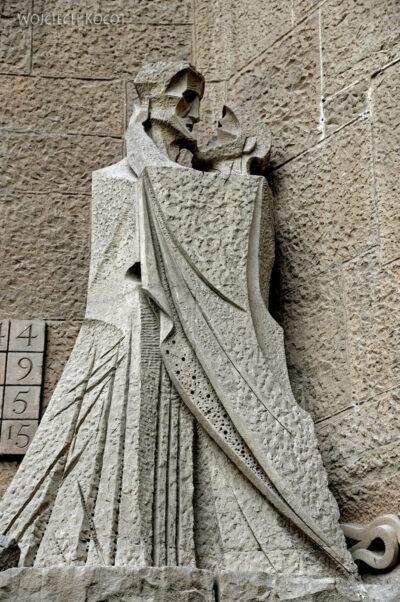 Basz087-La Sagrada Familia-fasada Męki Pańskiej-zachodnia