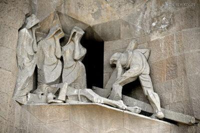 Basz091-La Sagrada Familia-fasada Męki Pańskiej-zachodnia