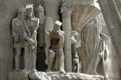Basz092-La Sagrada Familia-fasada Męki Pańskiej-zachodnia