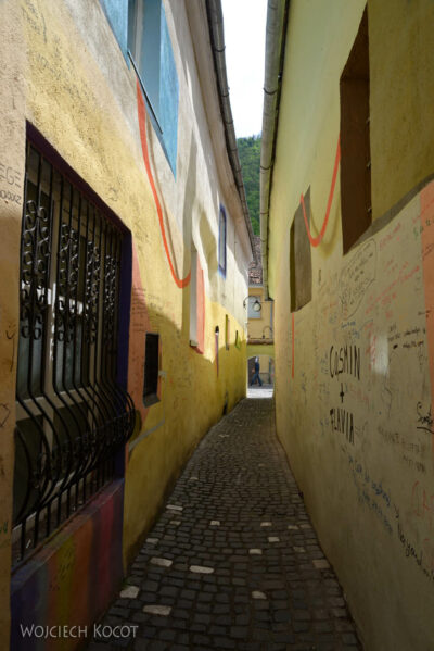 sdm025-Brasov-Wąska uliczka Strada Sforii